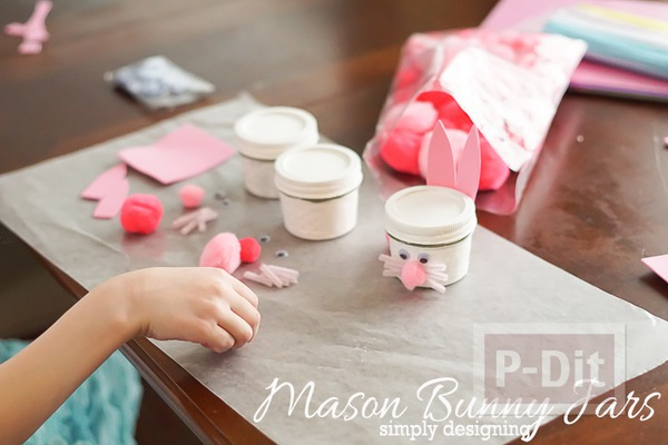 รูป 2 กระต่ายกระป๋อง ทำเอง น่ารัก สีชมพูหวานๆ