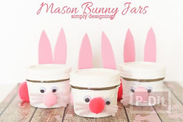 รูป 3 กระต่ายกระป๋อง ทำเอง น่ารัก สีชมพูหวานๆ