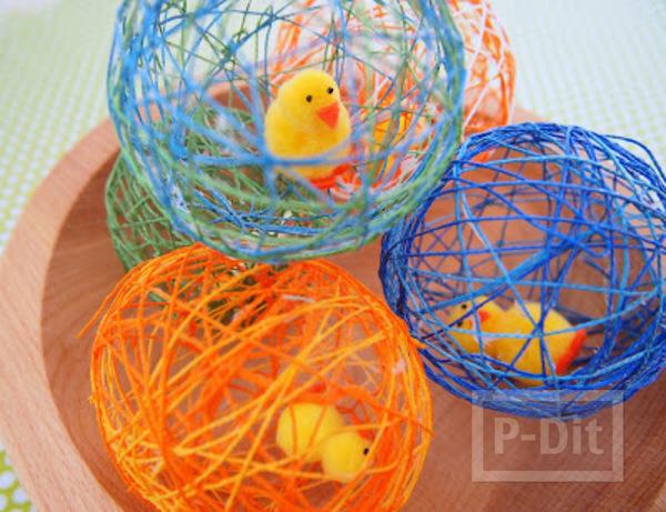 รูป 1 สอนทำรังนก รังไข่ จากเชือก