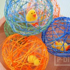 สอนทำรังนก รังไข่ จากเชือก