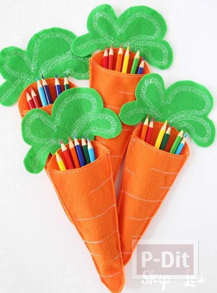 รูป 5 แครอทสีสวย เย็บจากผ้าสักกะหลาด