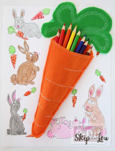 รูป 6 แครอทสีสวย เย็บจากผ้าสักกะหลาด