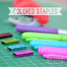 ไส้แม็กเย็บกระดาษ สีสดใส ระบายด้วย สีเมจิก