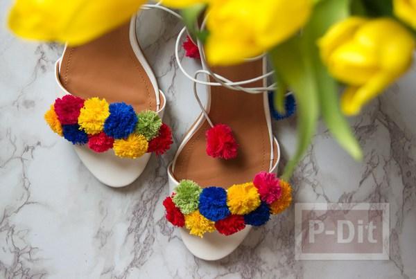 รูป 5 รองเท้ารัดส้น สวย น่ารัก ด้วยปอมๆ