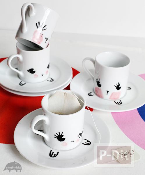 รูป 3 วาดแก้วกาแฟ ด้วยสีเมจิก สีสดใส