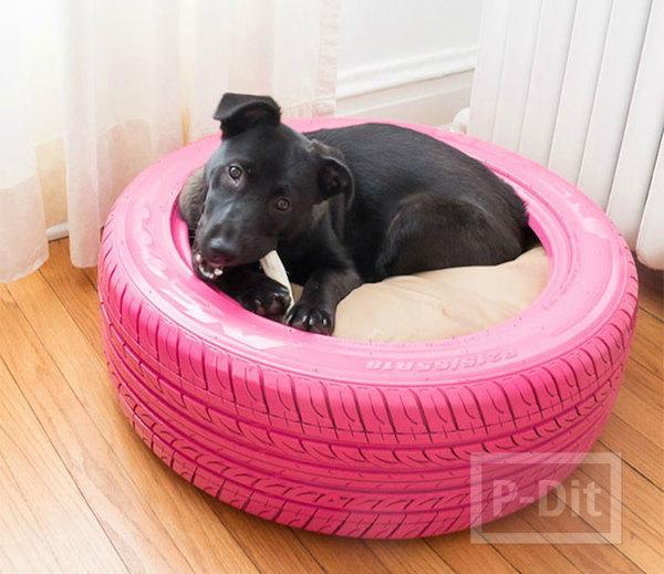 รูป 7 ที่นอนหมา ทำยางรถยนต์ พ่นสีสด