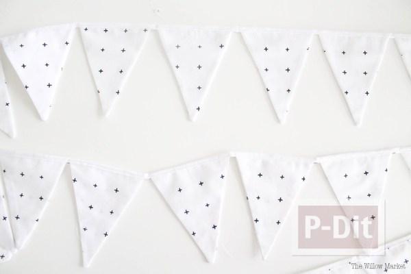 โมบายผ้า สามเหลี่ยมลายจุด น่ารักๆ