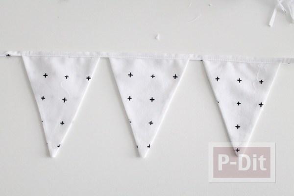 รูป 7 โมบายผ้า สามเหลี่ยมลายจุด น่ารักๆ