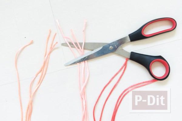รูป 3 ถุงใส่ผลไม้ ถักเชือก สีสดใส