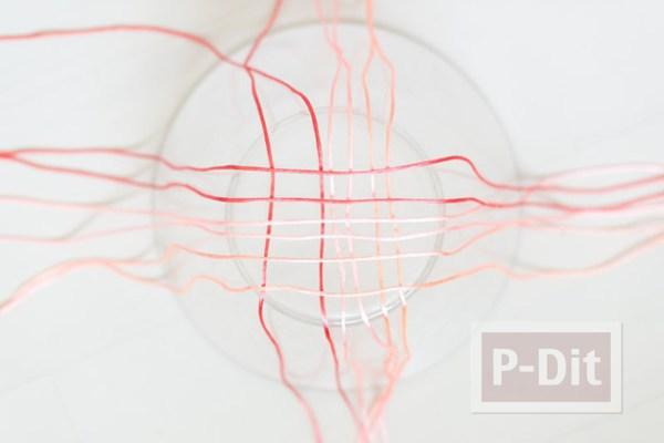 รูป 4 ถุงใส่ผลไม้ ถักเชือก สีสดใส