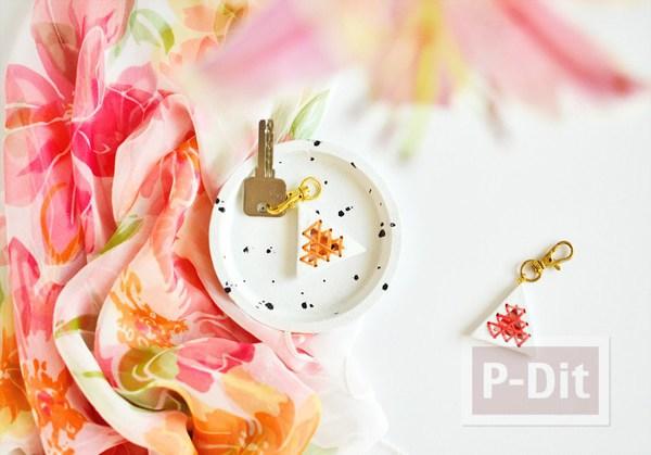 รูป 2 พวงกุญแจ ทำจากดินน้ำมัน ร้อยเชือกสีสวย