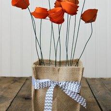 สอนทำดอกไม้กระดาษ เสียบกระถางสวยๆ