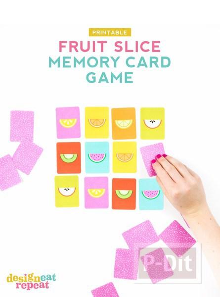 รูป 3 เกมส์จับรูปคู่ ผลไม้