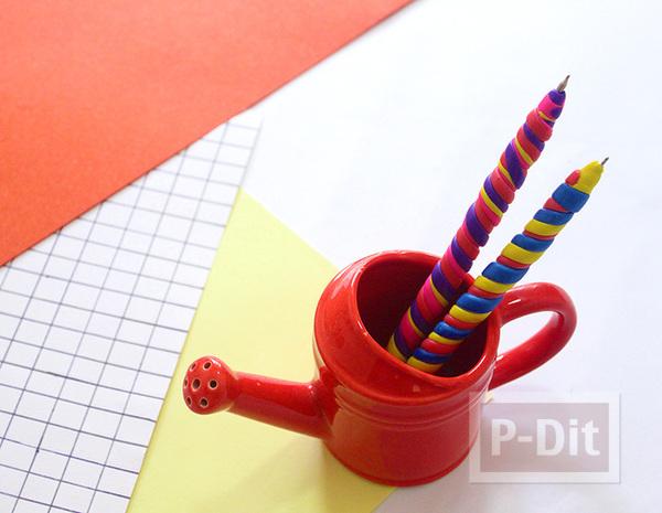 ตกแต่งปากกาสวยๆ ด้วยดินน้ำมัน