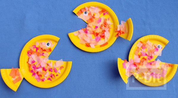 รูป 1 ปลาจานกระดาษ ทำเองแบบง่ายๆ