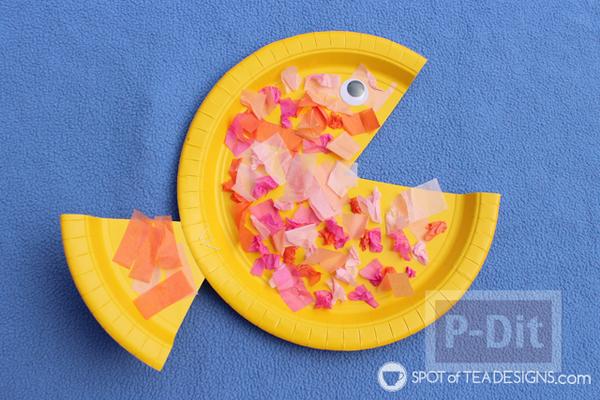 รูป 2 ปลาจานกระดาษ ทำเองแบบง่ายๆ