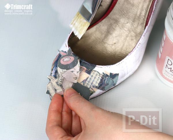 รูป 4 รองเท้าเก่า ลายใหม่ จากกระดาษหนังสือพิมพ์