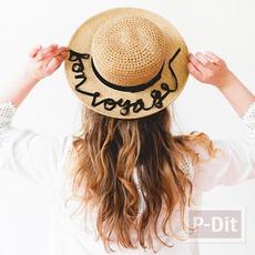 ตกแต่งหมวกใบสวย ด้วยริบบิ้น