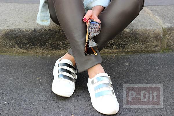 ตกแต่งแถบรองเท้า สีเงิน สวยๆ