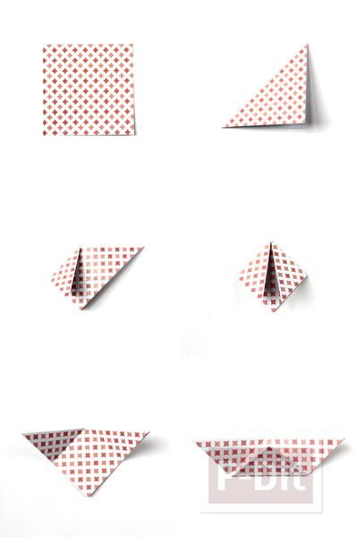 รูป 4 พับกระดาษ ทำเป็นกล่องใส่ของ กระจุกกระจิก