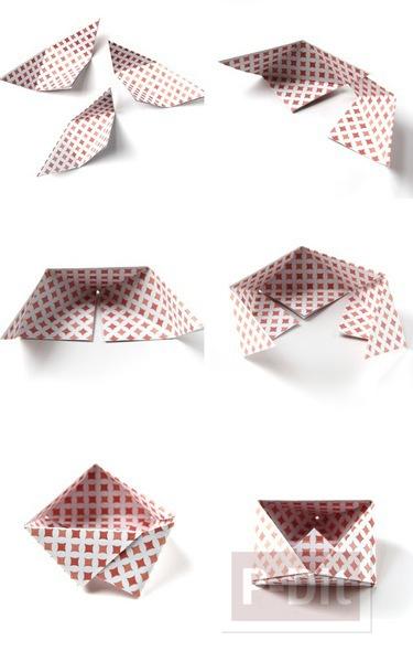 รูป 5 พับกระดาษ ทำเป็นกล่องใส่ของ กระจุกกระจิก