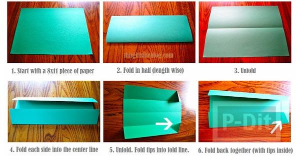 รูป 2 สอนพับเสื้อกระดาษ