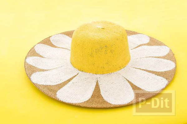 รูป 3 ระบายสีหมวก ดอกทานตะวันแสนสวย