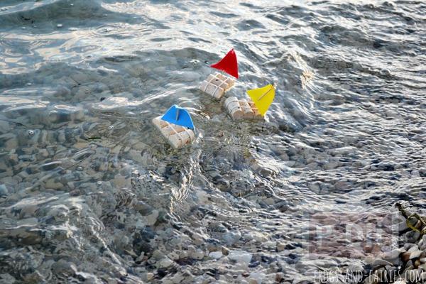 รูป 1 ทำเรือใบของเล่น จากจุกก๊อก