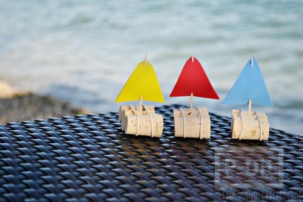 รูป 2 ทำเรือใบของเล่น จากจุกก๊อก