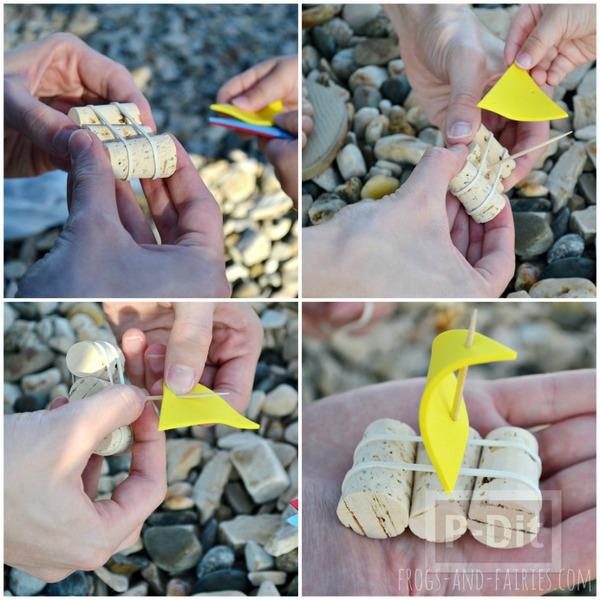 รูป 3 ทำเรือใบของเล่น จากจุกก๊อก