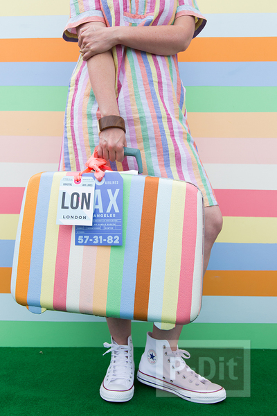 รูป 7 กระเป๋าเดินทางใบเก่า ทาสีใหม่ สดใส น่าใช้