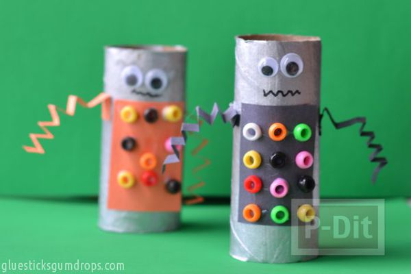ทำหุ่นยนต์ (Robot) จากแกนกระดาษทิชชู
