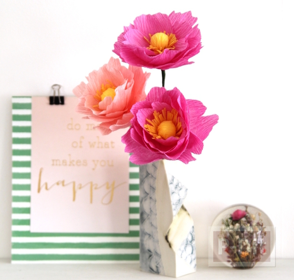 ดอกไม้กระดาษย่น ทำเองสวยๆ สีสดใส (ดอกโบตัน)