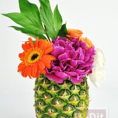 แจกันจากเปลือกผลไม้ สวย สดใส ธรรมชาติ