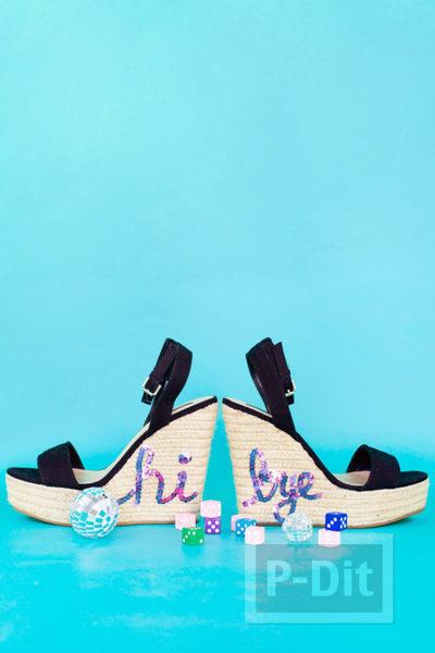 รูป 6 รองเท้าส้นสูง ตกแต่งประดับลายน่ารักๆ หลายแบบ