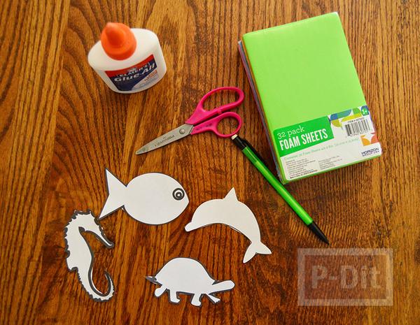 รูป 2 ดินสอไม้ ตกแต่งประดับสัตว์ ทำจากกระดาษโฟม