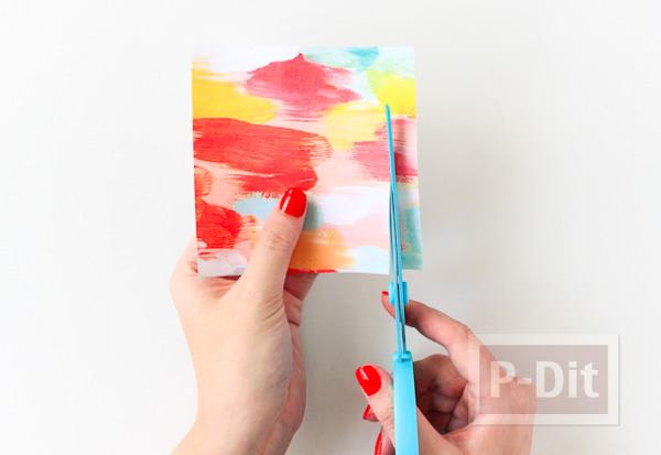 รูป 2 กำไลข้อมือแบบไม้ ตกแต่งติดกระดาษ ลายสวย