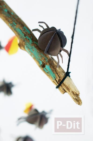 สอนทำแมงมุมกระดาษ กลมๆ