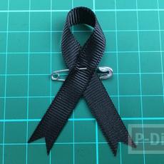 วิธีทำโบว์สีดำ ที่แขนเสื้อ แบบง่ายๆ