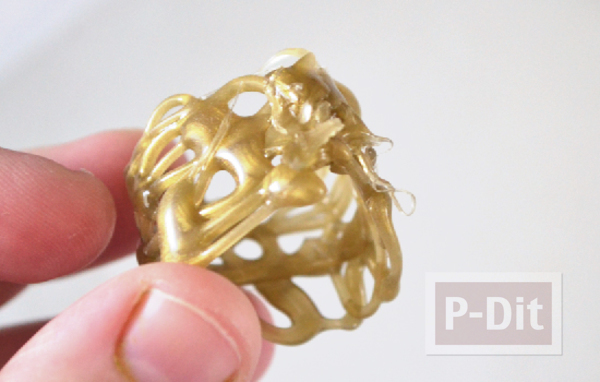 รูป 3 สอนทำแหวนจากกาวร้อน ประดับเม็ดคริสตัล