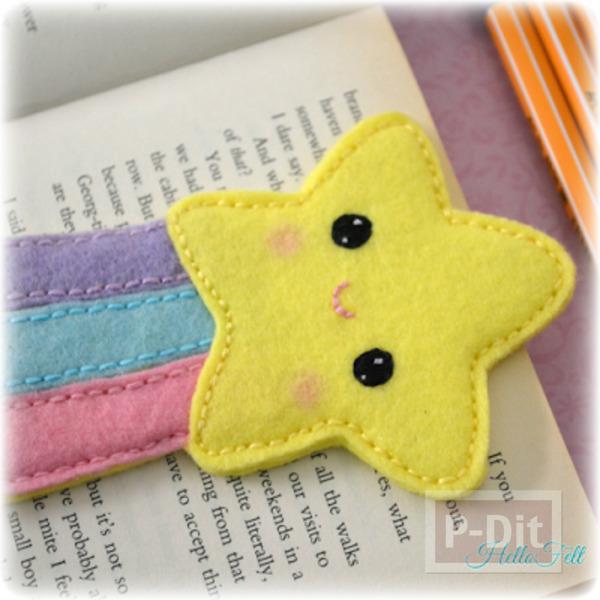 รูป 2 ที่คั่นหนังสือสวยๆ ลายดาว สีสวย