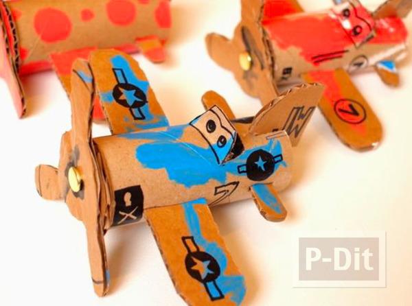 รูป 1 ไอเดียทำเครื่องบินของเล่น จากแกนกระดาษทิชชู