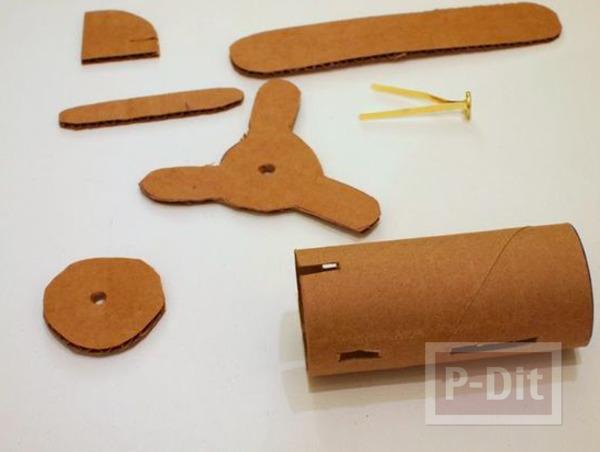รูป 2 ไอเดียทำเครื่องบินของเล่น จากแกนกระดาษทิชชู