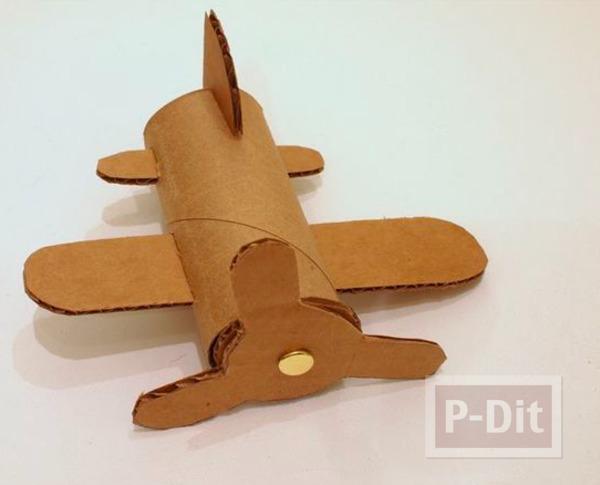 รูป 3 ไอเดียทำเครื่องบินของเล่น จากแกนกระดาษทิชชู