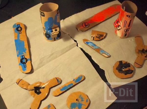 รูป 4 ไอเดียทำเครื่องบินของเล่น จากแกนกระดาษทิชชู