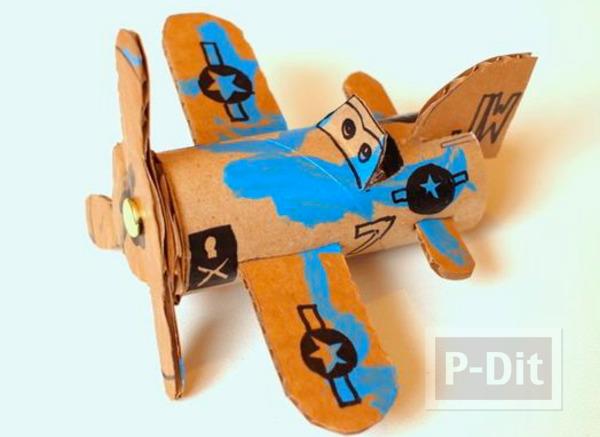 รูป 5 ไอเดียทำเครื่องบินของเล่น จากแกนกระดาษทิชชู