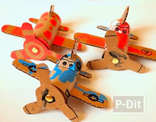 รูป 6 ไอเดียทำเครื่องบินของเล่น จากแกนกระดาษทิชชู