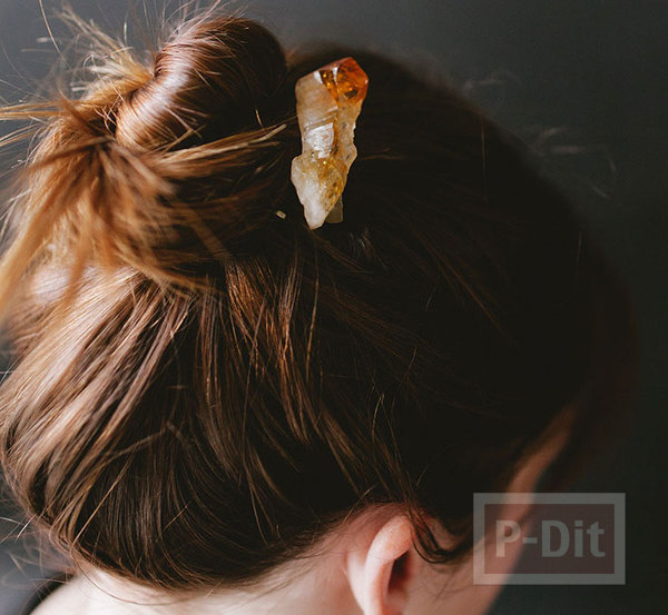 หวีสับ ทากาว ประดับหินสีสวย