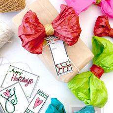โบว์ประดับกล่องของขวัญ ทำจากกระดาษสีสด