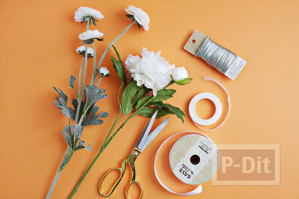 รูป 3 มงกุฎดอกไม้ ทำเอง จากเส้นลวด